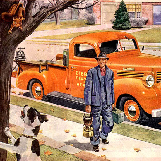 Detail Of Dodge Trucks Job Rated Worth Waiting For 1946 | Best of Vintage Ad Art 1891-1970