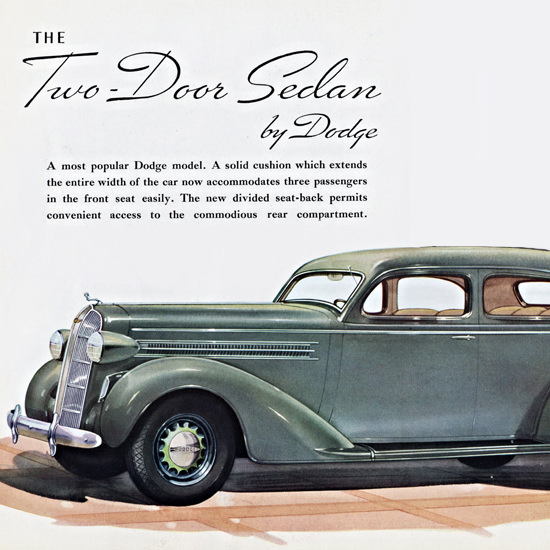 Detail Of Dodge Two Door Sedan 1936 Patrick Tappe | Best of Vintage Ad Art 1891-1970