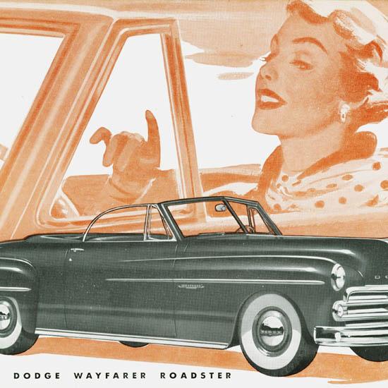 Detail Of Dodge Wayfarer Roadster 1950 | Best of Vintage Ad Art 1891-1970