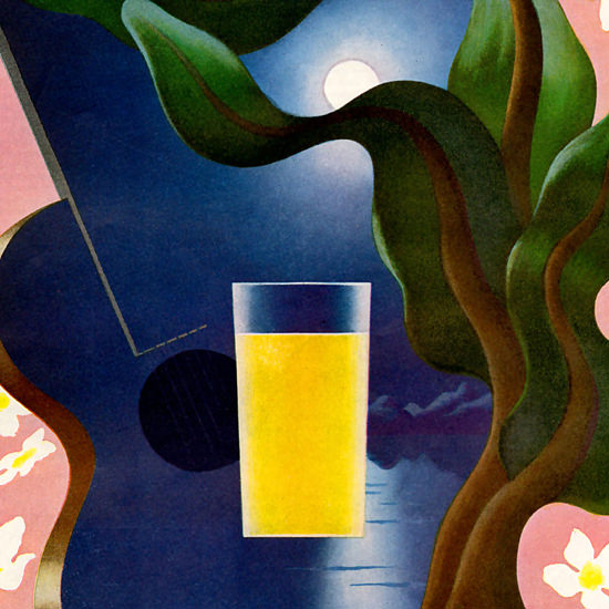 Detail Of Dole Hawaiian Pineapple Juice 1938 by A M Cassandre | Best of Vintage Ad Art 1891-1970