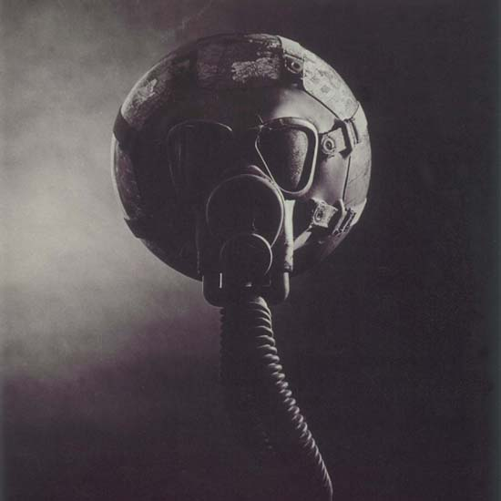 Detail Of Earth Day 1970 April 22 Globe Gas Mask USA | Best of Vintage Ad Art 1891-1970