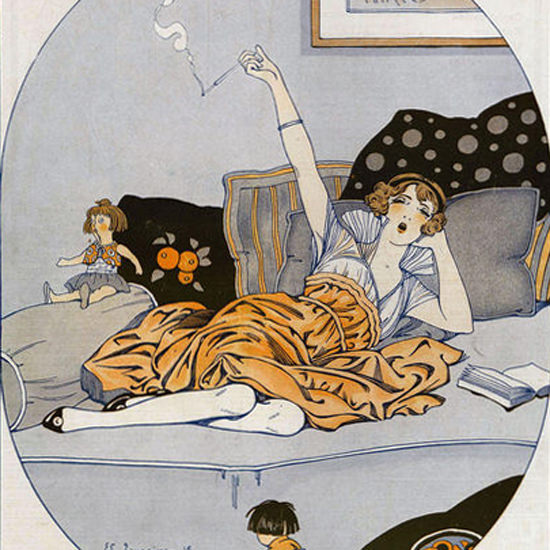 Detail Of Edouard Touraine La Vie Parisienne 1916 Penelope page | Best of 1891-1919 Ad and Cover Art