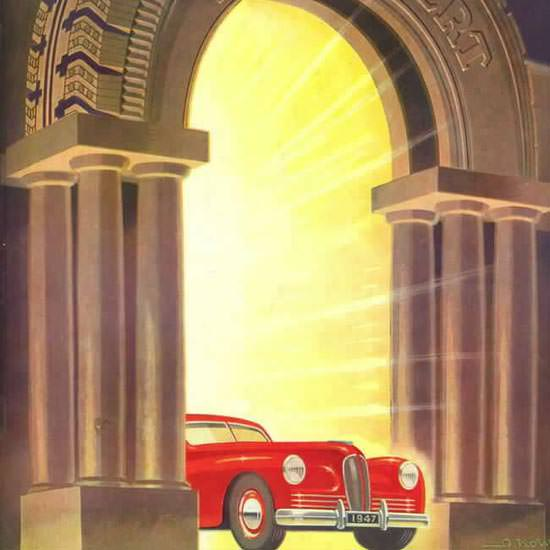 Detail Of Englebert Automobile 1947 | Best of 1940s Ad and Cover Art
