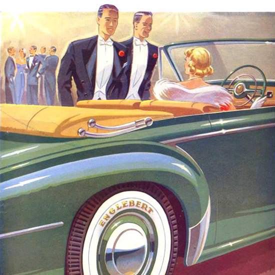 Detail Of Englebert Flanc Blanc 1952 | Best of Vintage Ad Art 1891-1970