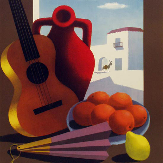 Detail Of Espana Window 1950 | Best of Vintage Ad Art 1891-1970