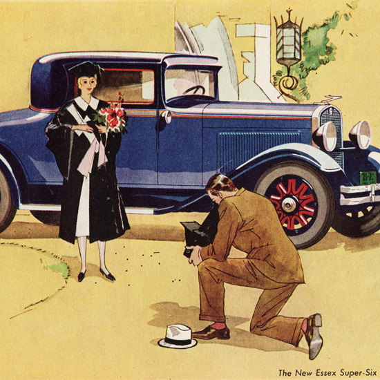 Detail Of Essex Super Six Challenger Coupe 1931 | Best of Vintage Ad Art 1891-1970