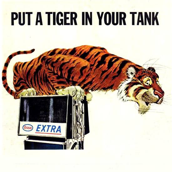 Detail Of Esso Put A Tiger In Your Tank 1960s   Best of Vintage Ad Art 1891-1970