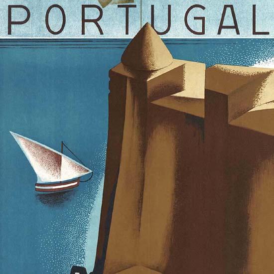 Detail Of Estoril-Cascais Portugal | Best of Vintage Ad Art 1891-1970