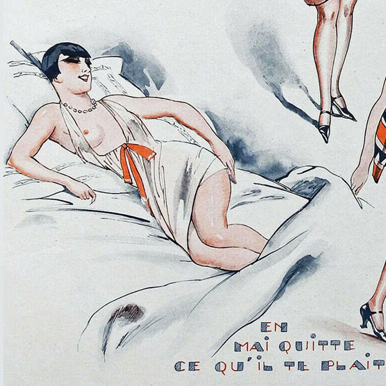 Detail Of Fabien Fabiano La Vie Parisienne 1927 Incertitudes Meteo page | Best of 1920s Ad and Cover Art