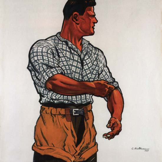Detail Of Fete federal De Lutte Zurich 1931 Suisse | Best of Vintage Ad Art 1891-1970