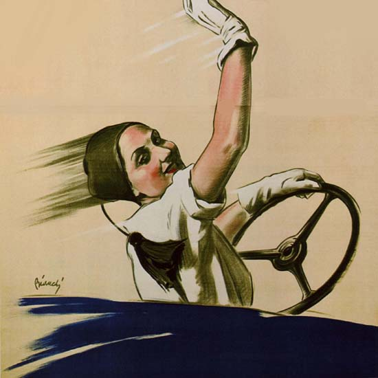 Detail Of Fiat Ardila Italia Girl Steering Wheel Italy | Best of Vintage Ad Art 1891-1970