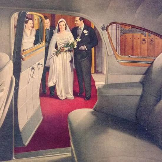 Detail Of Fisher Body On GM Cars Wedding 1948 | Best of 1940s Ad and Cover Art