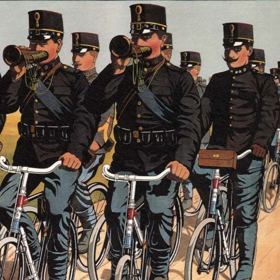 Detail Of Fongers Netherlands Bicycles | Best of Vintage Ad Art 1891-1970