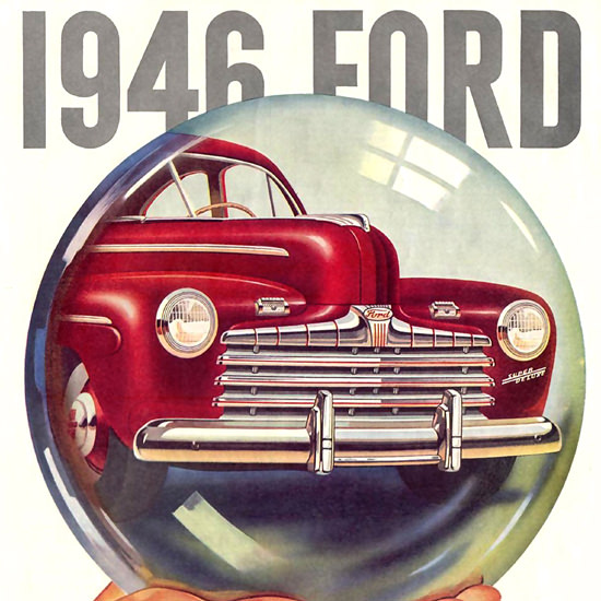 Detail Of Ford 1946 Crystal Ball | Best of 1940s Ad and Cover Art