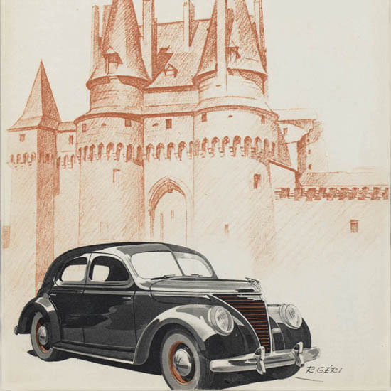 Detail Of Ford 2-2 Liter 1939 | Best of 1930s Ad and Cover Art
