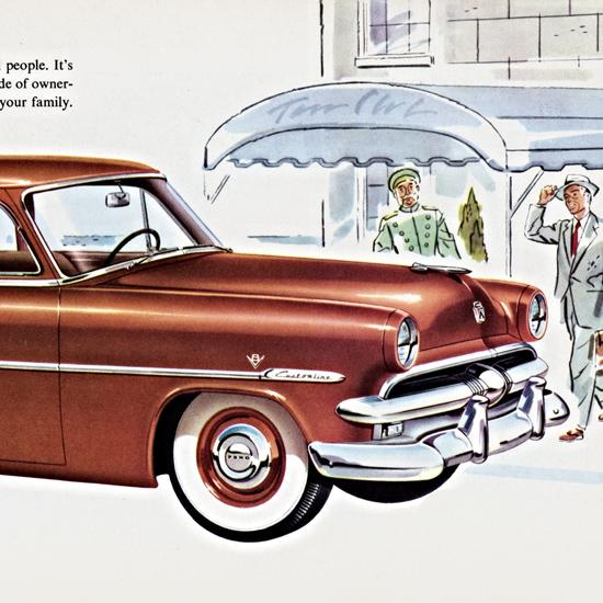 Detail Of Ford Customline Club Coupe 1953 No Peer | Best of Vintage Ad Art 1891-1970