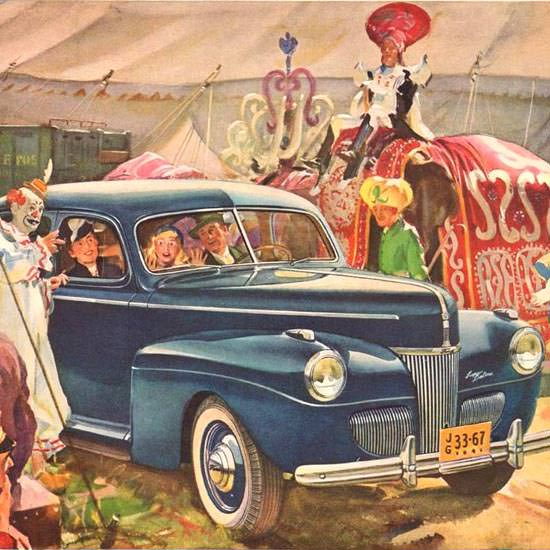 Detail Of Ford Deluxe Circus 1941 | Best of 1940s Ad and Cover Art