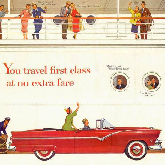 Detail Of Ford Fairlane 1955 | Best of Vintage Ad Art 1891-1970