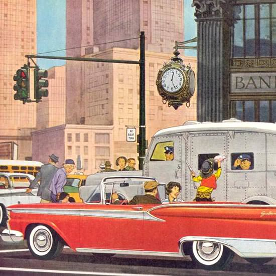 Detail Of Ford Galaxie Sunliner 1959 Save Your Money | Best of Vintage Ad Art 1891-1970