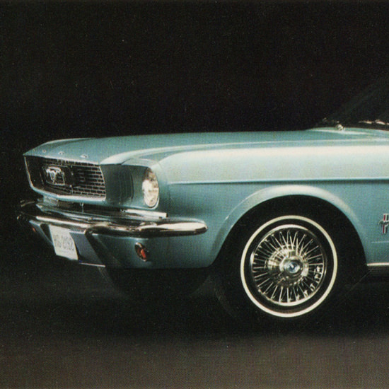 Detail Of Ford Millionth Mustang Limited Edition 1966 | Best of Vintage Ad Art 1891-1970