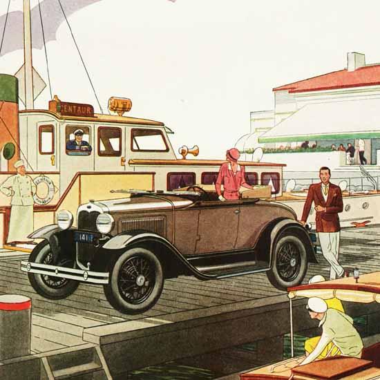 Detail Of Ford Model A Roadster 1930 | Best of Vintage Ad Art 1891-1970