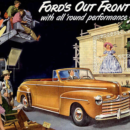 Detail Of Ford Out Front Hollywood | Best of Vintage Ad Art 1891-1970