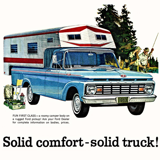Detail Of Ford Pickup 1963 Solid Comfort Solid Truck | Best of Vintage Ad Art 1891-1970