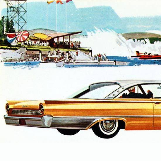 Detail Of Ford Starliner 1961 Speedboat | Best of Vintage Ad Art 1891-1970