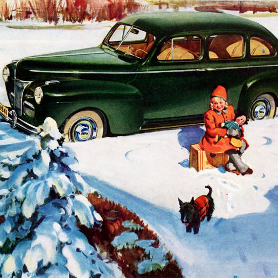 Detail Of Ford This Is Not A Mans World 1941 | Best of Vintage Ad Art 1891-1970