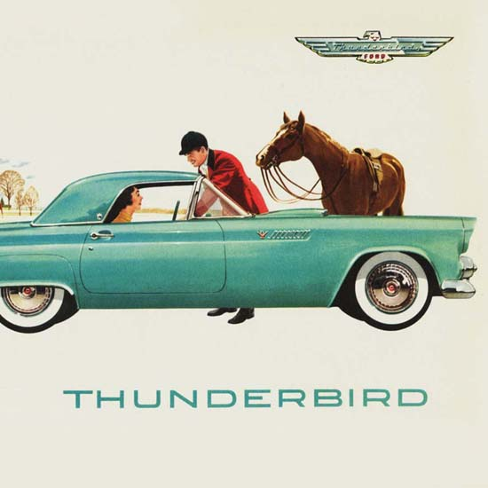 Detail Of Ford Thunderbird 1955 | Best of Vintage Ad Art 1891-1970