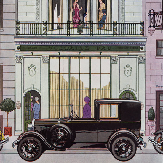 Detail Of Ford Town Car 1929 Chauffeur Compartment | Best of Vintage Ad Art 1891-1970