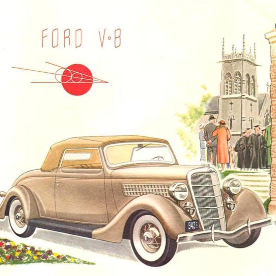 Detail Of Ford V-8  1935 | Best of Vintage Ad Art 1891-1970