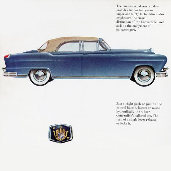 Detail Of Frazer Manhattan Convertible 1951 | Best of Vintage Ad Art 1891-1970