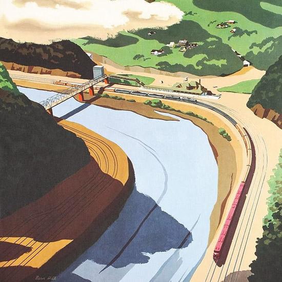 Detail Of GM Diesel Locomotives Black Diamond 1951 | Best of Vintage Ad Art 1891-1970