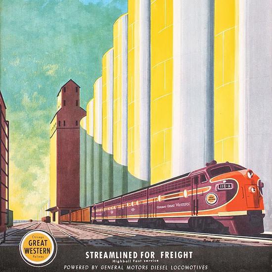 Detail Of GM Diesel Locomotives Great Western 1950s | Best of Vintage Ad Art 1891-1970