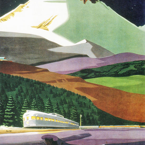 Detail Of GM Diesel Locomotives Western Pacific 1950s | Best of Vintage Ad Art 1891-1970