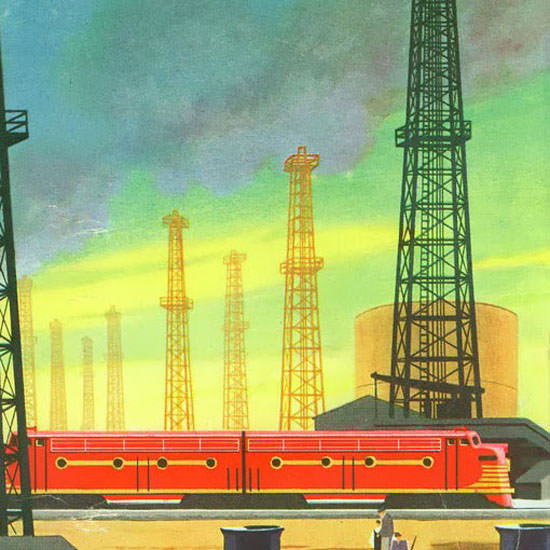 Detail Of GM Electro LocoMotive 1951 Industry | Best of Vintage Ad Art 1891-1970