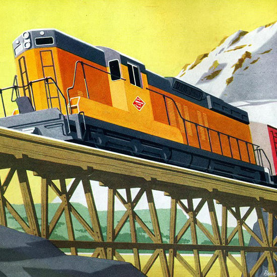Detail Of GM Electro LocoMotive Division 1954 Milwaukee | Best of Vintage Ad Art 1891-1970