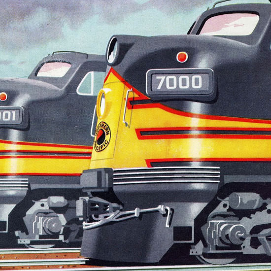Detail Of GM Electro LocoMotive Northern Pacific 1954 | Best of Vintage Ad Art 1891-1970