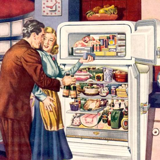 Detail Of General Motors Frigidaire Refrigerator 1948 | Best of 1940s Ad and Cover Art
