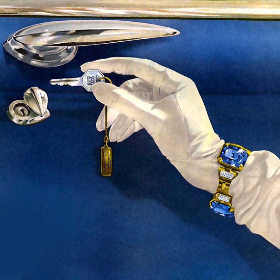 Detail Of General Motors GM Key 1949 | Best of Vintage Ad Art 1891-1970