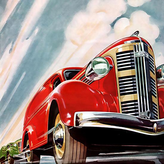 Detail Of General Motors GMC Trucks Trailers Announcing | Best of Vintage Ad Art 1891-1970
