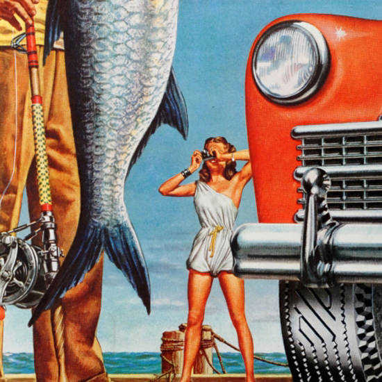 Detail Of General Tire Depend On Skill Price Winner 1940s | Best of Vintage Ad Art 1891-1970