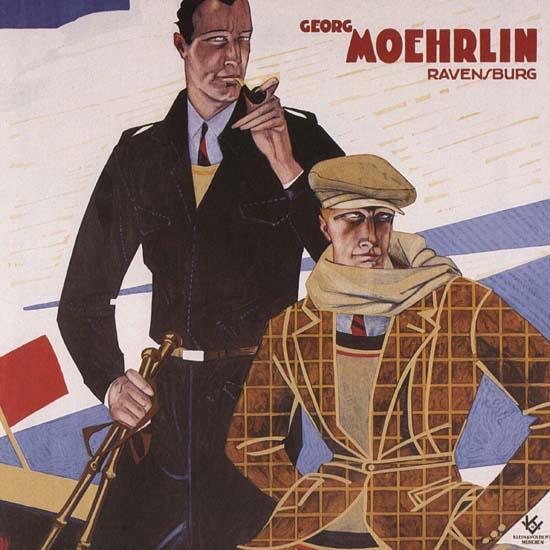 Detail Of Georg Moehrlin Ravensburg Wintersport | Best of Vintage Ad Art 1891-1970