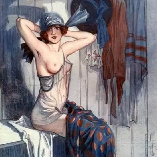 Detail Of George Pavis La Vie Parisienne 1919 Une Debutante page | Best of Vintage Ad Art 1891-1970