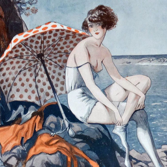 Detail Of George Pavis La Vie Parisienne 1922 La Robinsonne page | Best of 1920s Ad and Cover Art