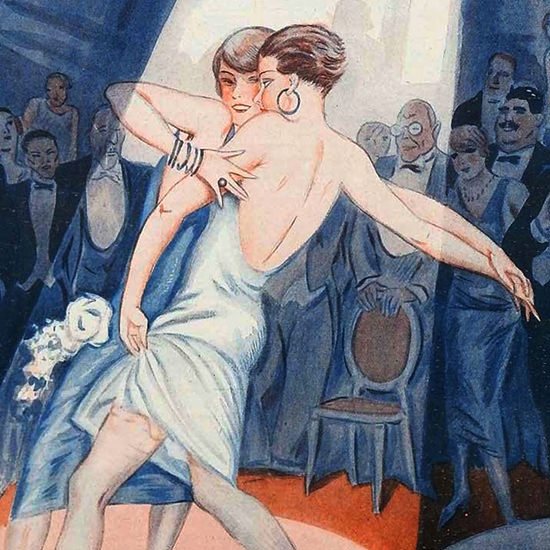 Detail Of George Pavis La Vie Parisienne 1925 Endroit Bien Parisien page | Best of 1920s Ad and Cover Art