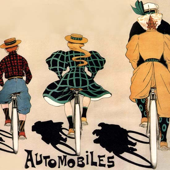 Detail Of Georges Richard Cycles Automobiles Paris France | Best of Vintage Ad Art 1891-1970