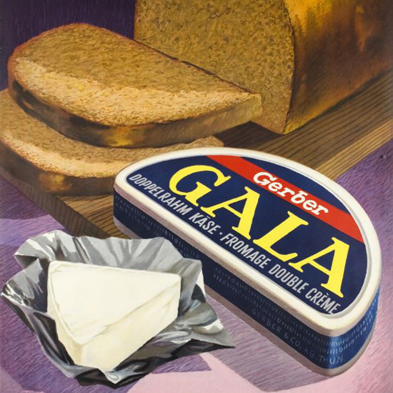 Detail Of Gerber Gala Doppelrahm Kaese Fromage 1950s | Best of Vintage Ad Art 1891-1970