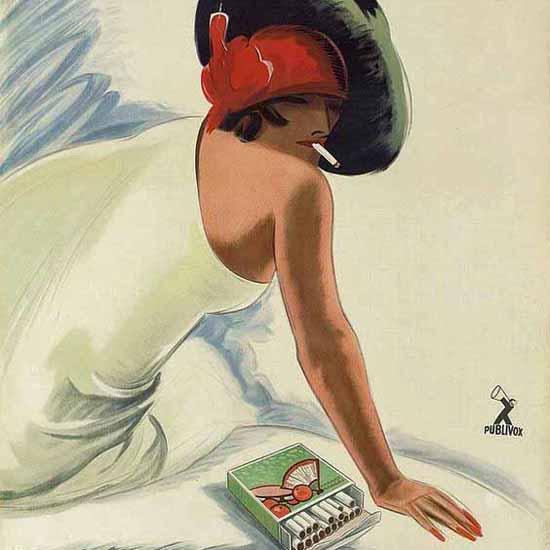 Detail Of Gitanes Regie Francaise Ad 1931 France | Best of Vintage Ad Art 1891-1970